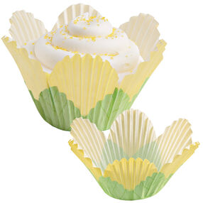Yellow Flower Petal Cupcake Liners