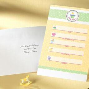 My Little Cupcake Write-In Baby Shower Invitation