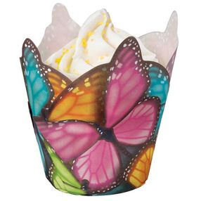 Wilton Multicolor Butterfly Specialty Pleated Cups, 15 Ct. 415-2172