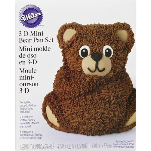 3D Mini Teddy Bear Cake Pan
