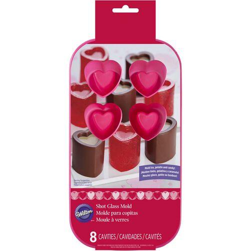 Heart Shot Glass Silicone Mold   Wilton