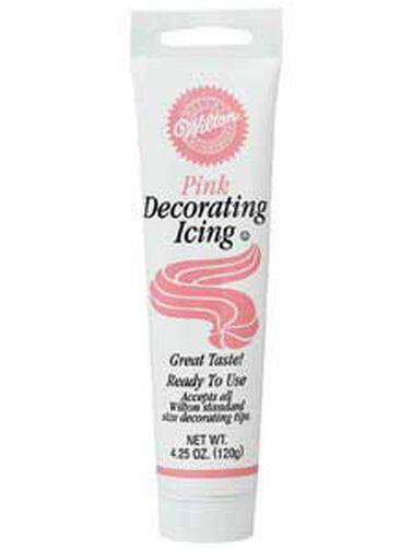 Ready-To-Use Pink  Icing Tube