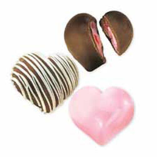 Deep Heart Truffle Candy Mold