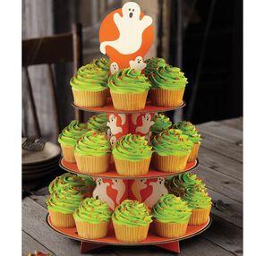 Ghost & Pumpkin Cupcake Stand