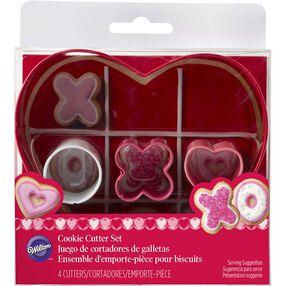 Hugs & Kisses Heart Cookie Cutter Set