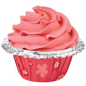 Red Floral Double Ruffle ColorCup Baking Cup