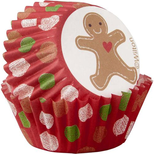 Gingerbread Boy Mini Cupcake Liners