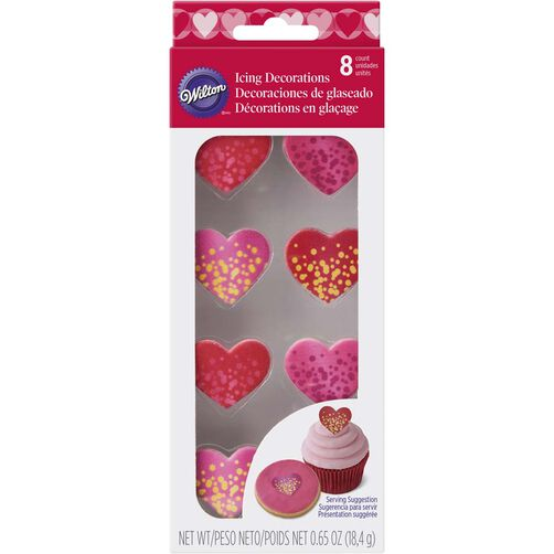 Shimmering Heart Candy Decorations