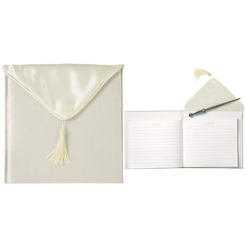 Ivory Guest Book and Pen Set