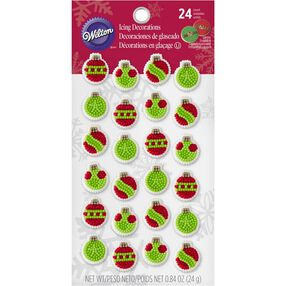 Mini Ornament Edible Cupcake Toppers
