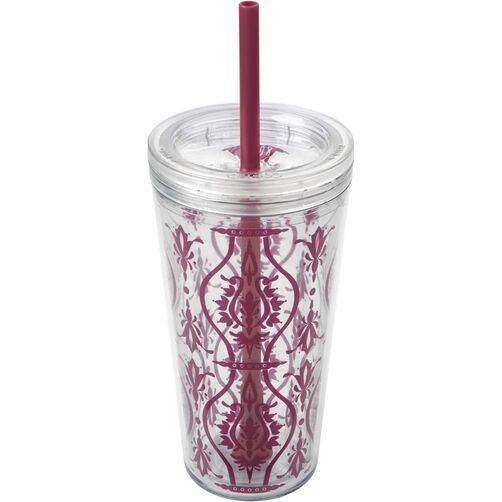 Minimus Damask Red Tumbler