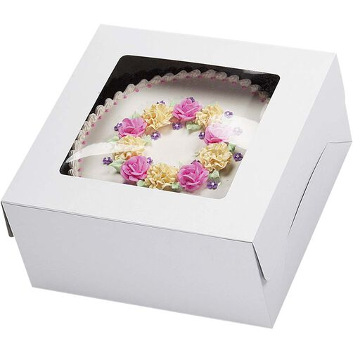 12 x 12 Window Cake Box