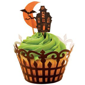 Haunted Manor Cupcake Wraps ?n Pix