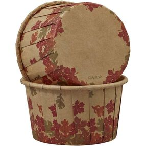 Wilton Autumn Leaves Kraft Paper Baking Cups