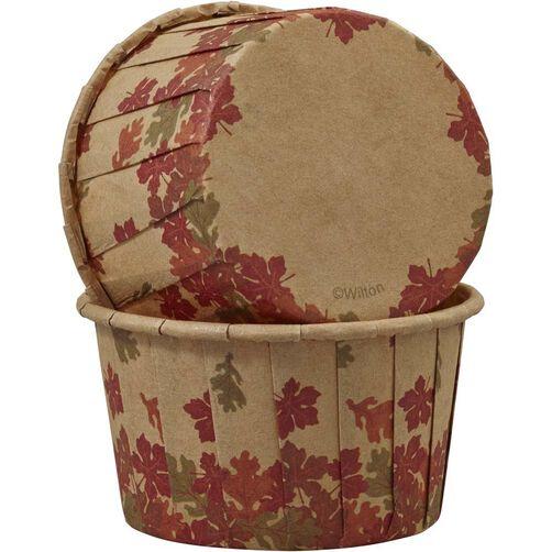 Wilton Autumn Leaves Kraft Paper Baking Cups