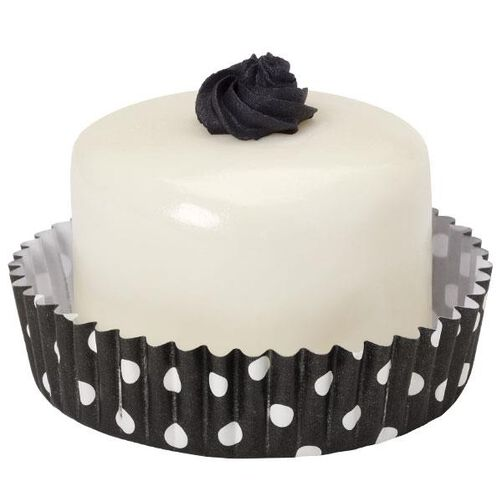 Black & White Polka Dots Round Treat Cups