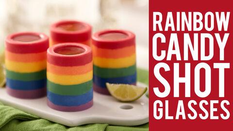 Rainbow Candy Shot Glasses