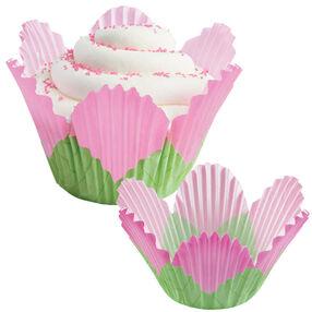 Pink Petal Cupcake Liners