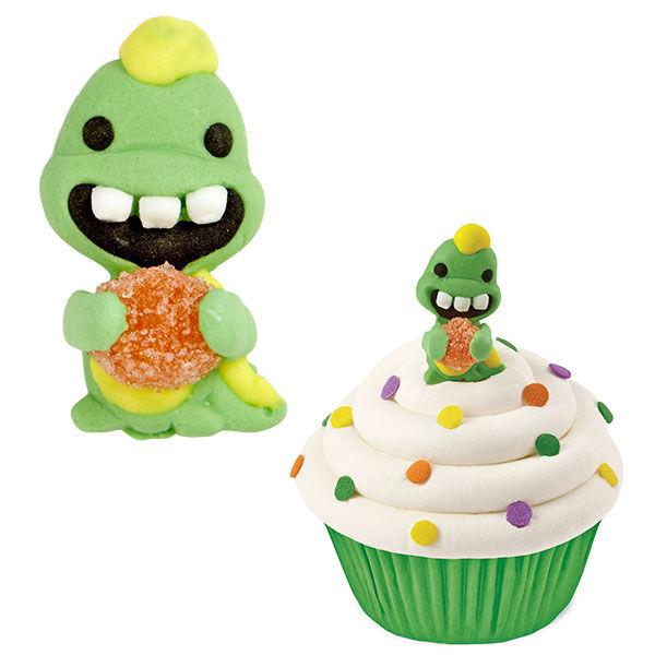 Dinosaur Birthday Cake Wilton: Wilton DINOSAUR Royal Icing Edible Gumdrop Cake Cup Cakes