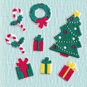 Christmas Tree Scene Icing Decorations