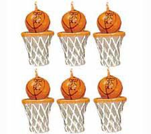 Basketballs 6-Piece Candle Set