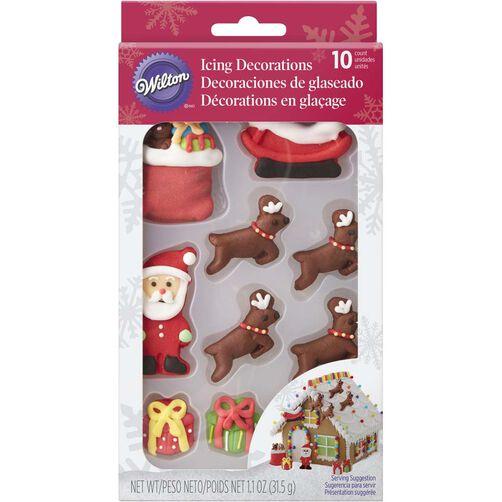 Santa And Reindeer Gingerbread House Decorating Kit Wilton