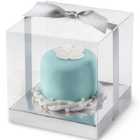 Silver Clear Favor Box Kit