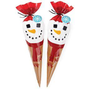 Cocoa Cone Snowman