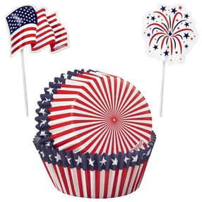 Wilton®  Red, White and Blue Cupcake Combo, 24 Ct.