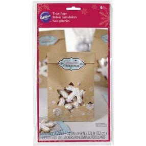 Wilton Snowflake Kraft Paper Treat Bags