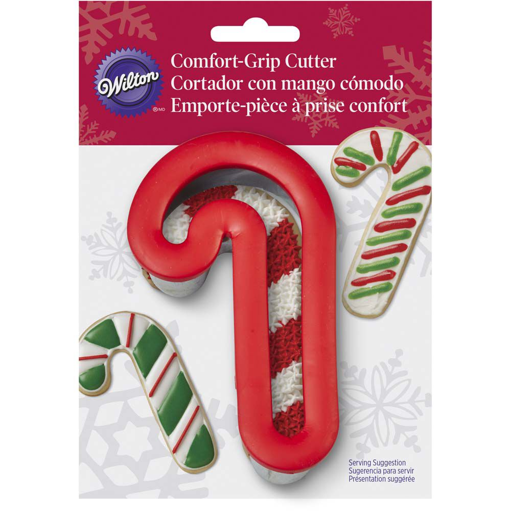 comfort grip candy cane cookie cutter wilton