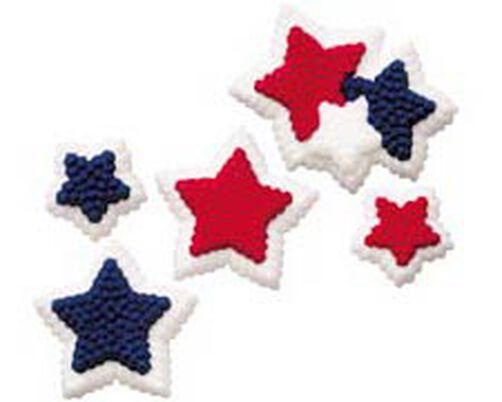 Patriotic Stars Icing Decorations