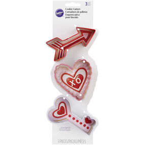 Wilton Valentine's Day Cookie Cutter Set, 3-Piece