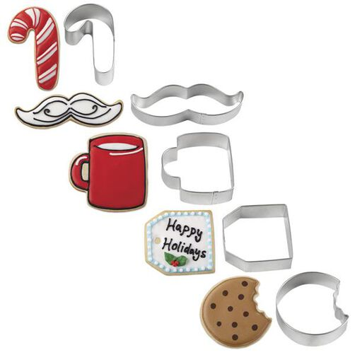 Christmas Cookies For Santa Cookie Cutter Set