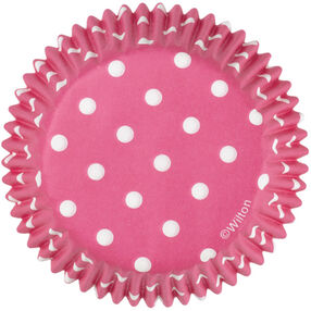 Pink Dots Standard Baking Cups