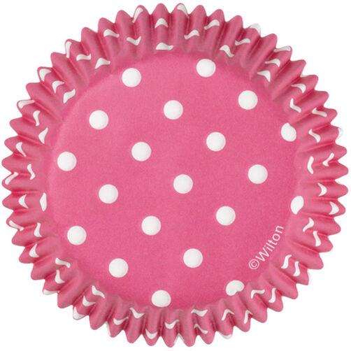 Pink Polka Dot Cupcake Liners