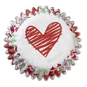 Wilton Valentine?s Day Heart Mini Baking Cups, 100-Ct.