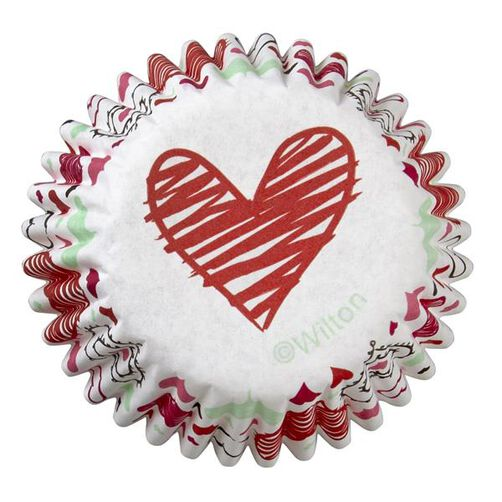 Valentine's Day Heart Mini Cupcake Liners