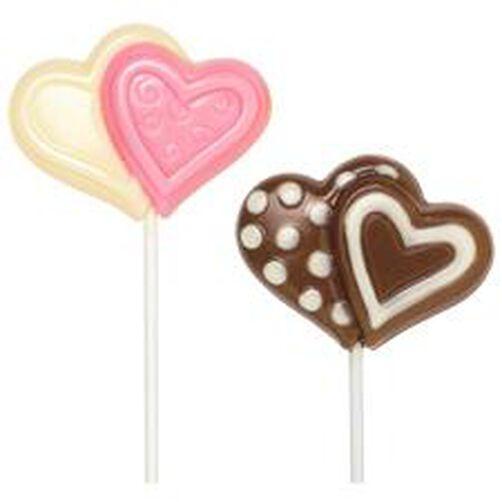 Double Heart Large Lollipop Mold