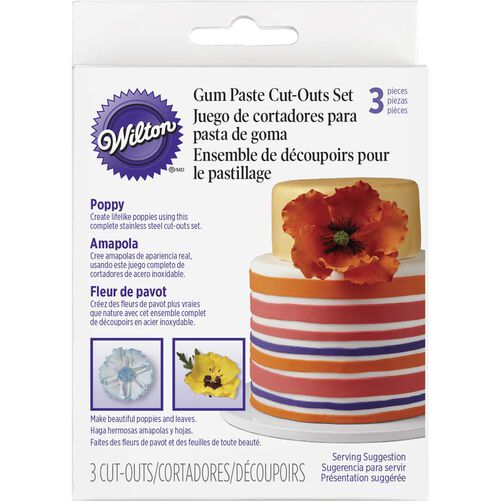 Gum Paste Poppy Cut-Out Set