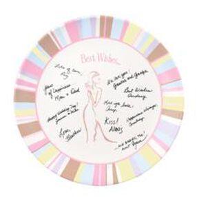 Bridal Shower Autograph Plate