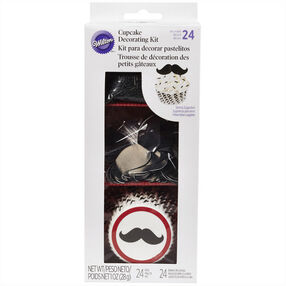 Mustache Cupcake Decorating Kit