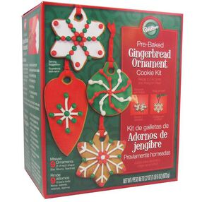Pre-Baked Gingerbread Ornament Cookie Kit