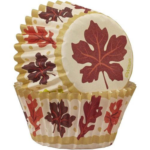 Wilton Fall Leaves Mini Baking Cups