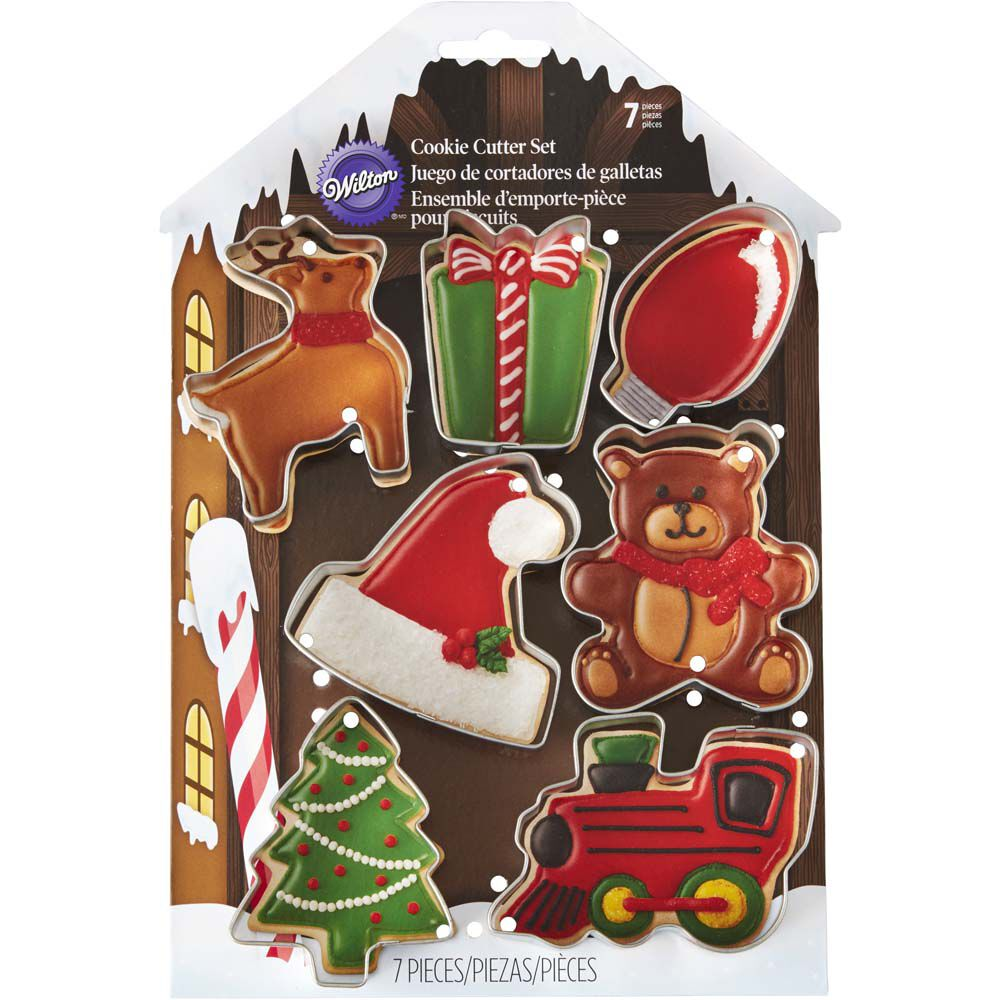 7-Piece Christmas Cookie Cutter Set | Wilton