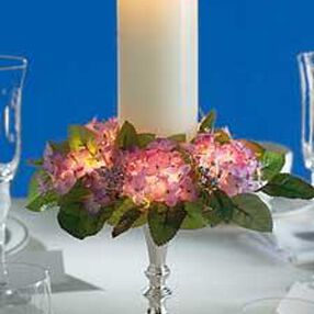 Hydrangea Lighted Candle Ring