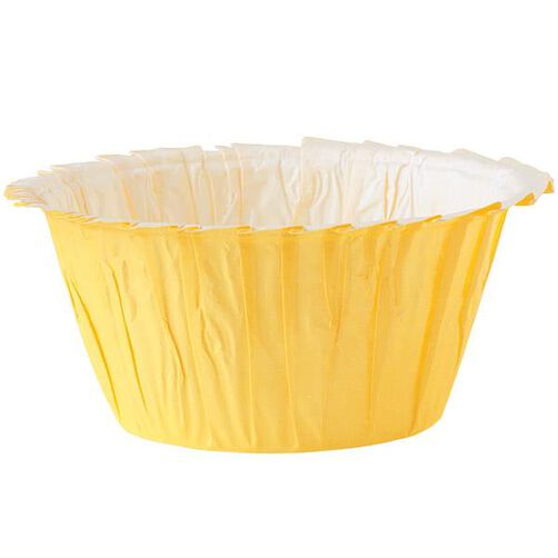 Yellow Ruffled Baking Cups