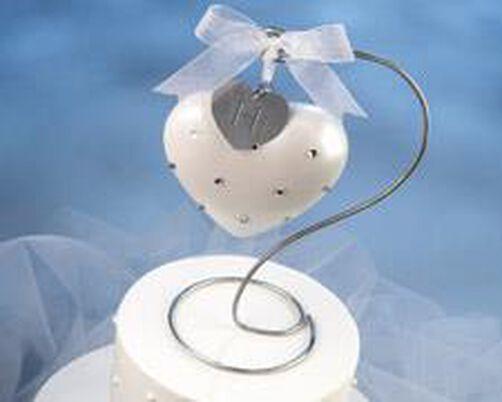 Rhinestone Heart Wedding Topper