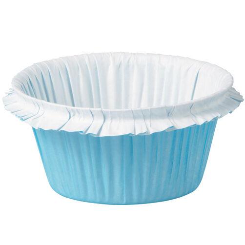 Blue Double Ruffle Standard Baking Cup