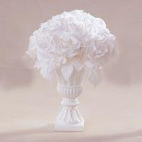 White Rose Floral Bouquet Topiary Arrangement